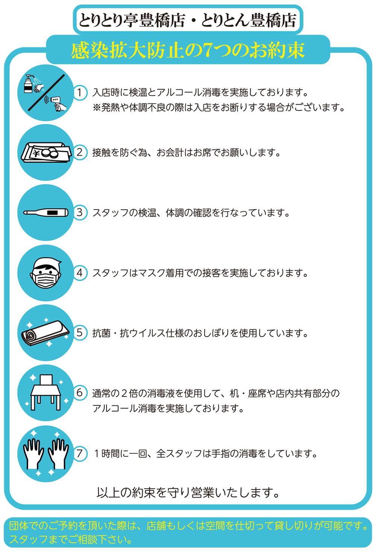 感染拡大防止の7つのお約束